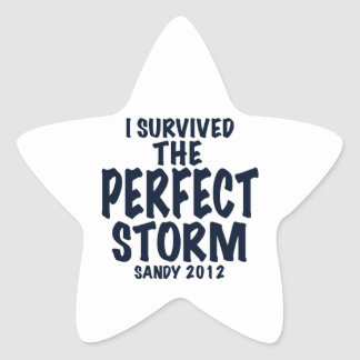 I Survived the Perfect Storm, Sandy 2012, hurrican Star Sticker