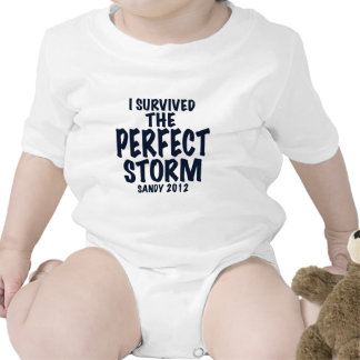 I Survived the Perfect Storm, Sandy 2012, hurrican Bodysuits