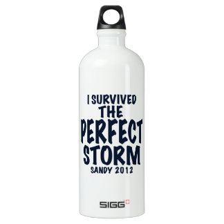 I Survived the Perfect Storm, Sandy 2012, hurrican Water Bottle