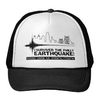 I survived the Philly Earthquake! Hat