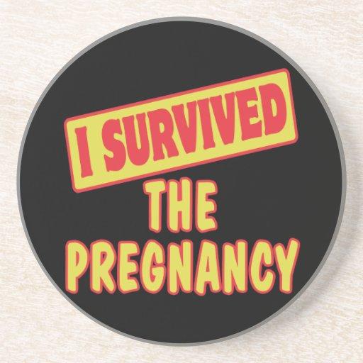 I SURVIVED THE PREGNANCY BEVERAGE COASTER