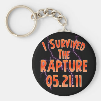 I Survived the Rapture - May 21 Basic Round Button Keychain