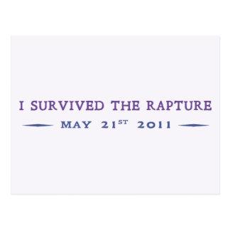 I Survived the Rapture Postcard