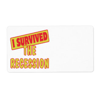 I SURVIVED THE RECESSION PERSONALIZED SHIPPING LABEL