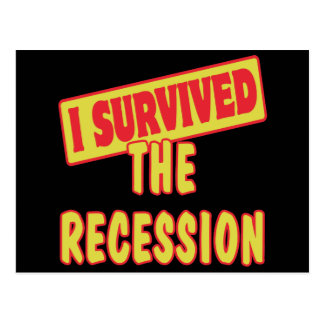 I SURVIVED THE RECESSION POSTCARD