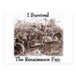 I survived the Rennaisance Fair! Postcard