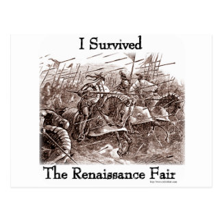 I survived the Rennaisance Fair! Postcard