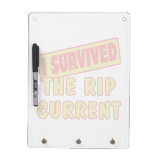 I SURVIVED THE RIP CURRENT DRY ERASE BOARD