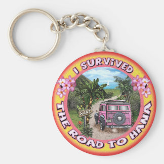 I survived the Road to Hana Basic Round Button Keychain