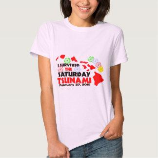 I Survived The Saturday Tsunami Tee Shirt
