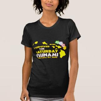 I Survived The Saturday Tsunami Tee Shirts