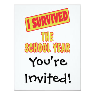 I SURVIVED THE SCHOOL YEAR 4.25X5.5 PAPER INVITATION CARD