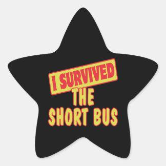 I SURVIVED THE SHORT BUS STICKER