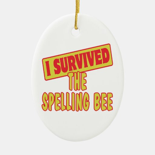 I SURVIVED THE SPELLING BEE CHRISTMAS ORNAMENTS