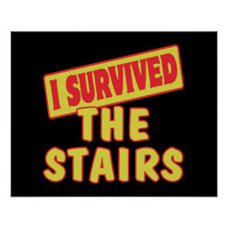 I SURVIVED THE STAIRS POSTER
