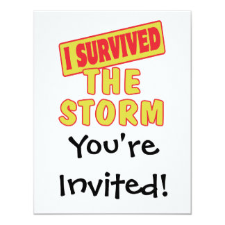 I SURVIVED THE STORM CARD