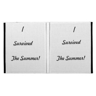 I survived the summer! iPad folio cover