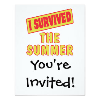 I SURVIVED THE SUMMER 4.25X5.5 PAPER INVITATION CARD