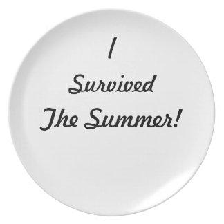I survived the summer! dinner plate
