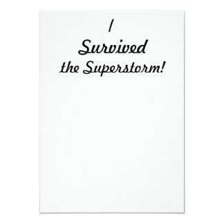 I survived the superstorm! custom announcement