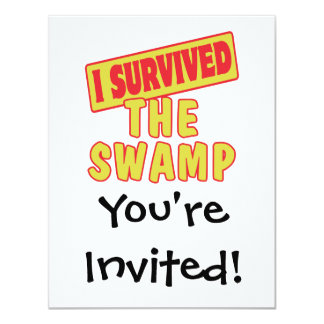 I SURVIVED THE SWAMP 4.25X5.5 PAPER INVITATION CARD
