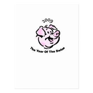 I Survived  The Swine Flu 2009 Postcard