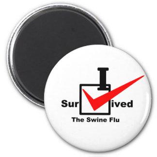 I Survived The Swine Flu Magnet