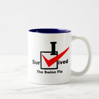 I Survived The Swine Flu Two-Tone Coffee Mug