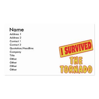 I SURVIVED THE TORNADO Double-Sided STANDARD BUSINESS CARDS (Pack OF 100)