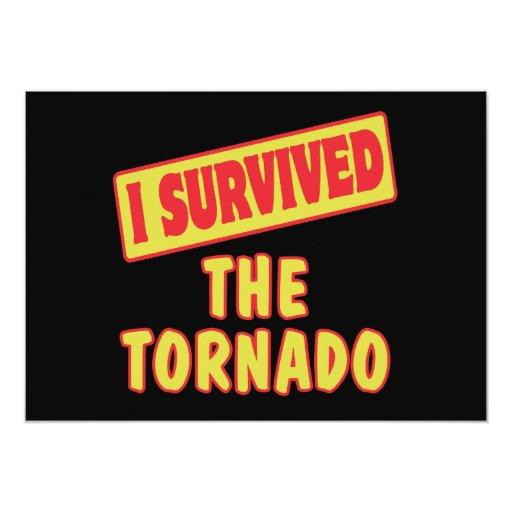 I SURVIVED THE TORNADO CUSTOM ANNOUNCEMENT