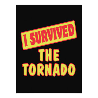 I SURVIVED THE TORNADO CUSTOM ANNOUNCEMENTS