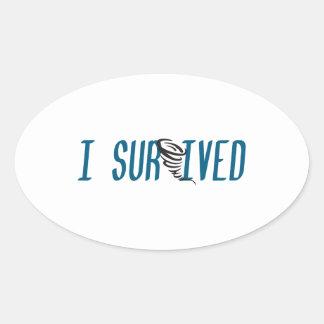 I SURVIVED THE TORNADO OVAL STICKER