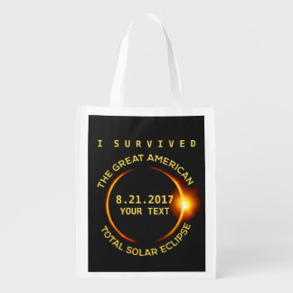 I Survived the Total Solar Eclipse 8.21.2017 USA Grocery Bag