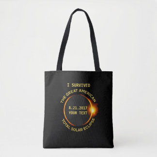I Survived the Total Solar Eclipse 8.21.2017 USA Tote Bag