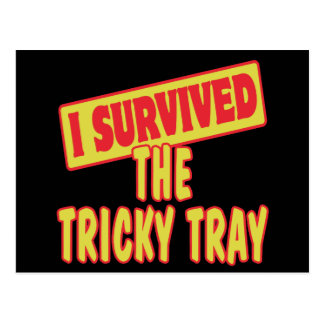 I SURVIVED THE TRICKY TRAY POSTCARD