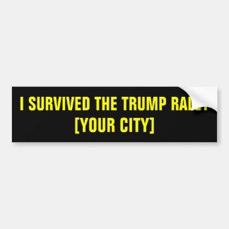 I Survived the Trump Rally Bumper Sticker