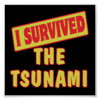 I SURVIVED THE TSUNAMI POSTER