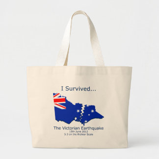 I Survived the Victorian Earthquake Canvas Bags