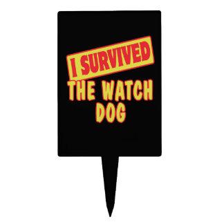 I SURVIVED THE WATCH DOG CAKE PICKS
