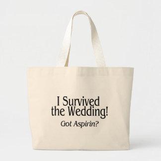 I Survived The Wedding Got Aspirin Bag