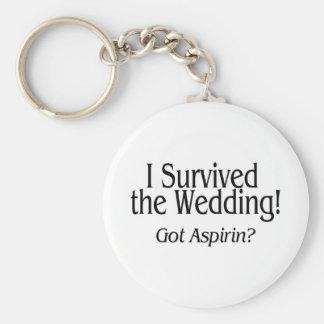 I Survived The Wedding Got Aspirin Keychain