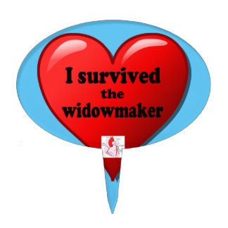 I Survived the Widowmaker Cake Topper