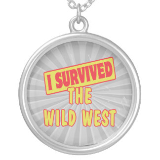 I SURVIVED THE WILD WEST ROUND PENDANT NECKLACE