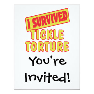 I SURVIVED TICKLE TORTURE PERSONALIZED INVITE