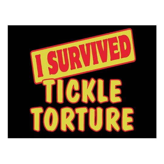 I SURVIVED TICKLE TORTURE POSTCARD