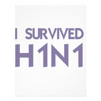 I Survived to H1N1 Personalized Letterhead