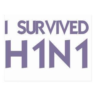 I Survived to H1N1 Postcard