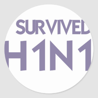 I Survived to H1N1 Stickers