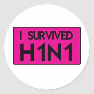 I Survived to H1N1 Sticker