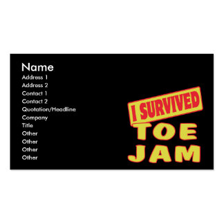 I SURVIVED TOE JAM Double-Sided STANDARD BUSINESS CARDS (Pack OF 100)